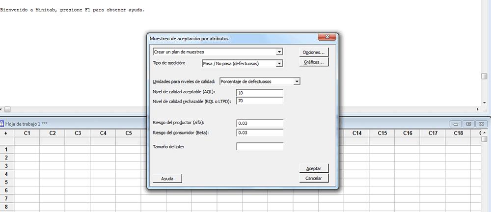 Parámetros de la muestra en auditorías internas y externas